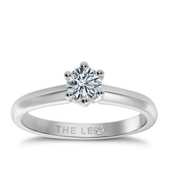 Leo Diamond 18ct White Gold 1/2ct I-I1 Solitaire Ring - Product number 9327770