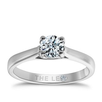 Leo Diamond 18ct white gold 2/5ct I-SI2 solitaire ring - Product number 9328025