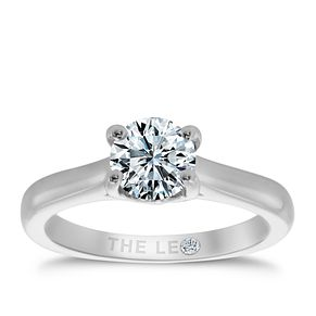 Leo Diamond 18ct white gold 0.88ct I-SI2 solitaire ring - Product number 9328157