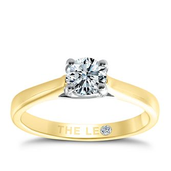 Leo Diamond 18ct Yellow & White Gold 2/5ct I-Si2 Ring - Product number 9328556