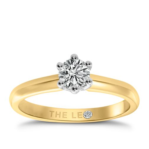 Leo Diamond 18ct yellow & white gold 1/2ct I-I1 ring - Product number 9329749