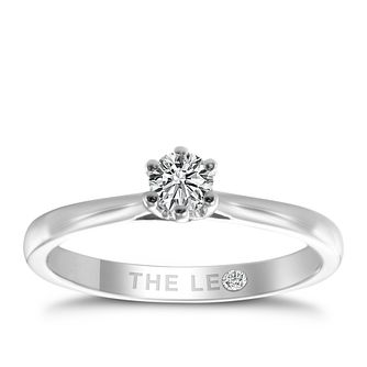 Leo Diamond platinum 1/4ct I-I1 solitaire ring - Product number 9330038