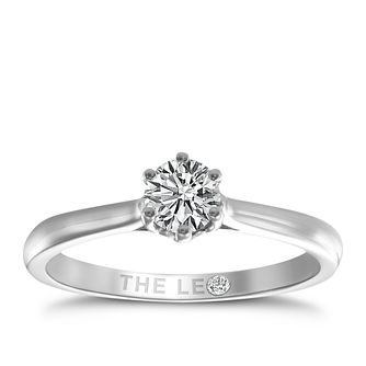 Leo Diamond Platinum 1/3ct I-I1 Solitaire Ring - Product number 9330151