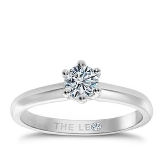 Leo Diamond platinum 2/3ct I-I1 solitaire ring - Product number 9330550