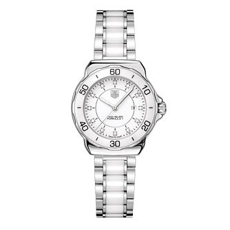 TAG Heuer Formula 1 Ladies' White Ceramic Bracelet Watch - Product number 9337369