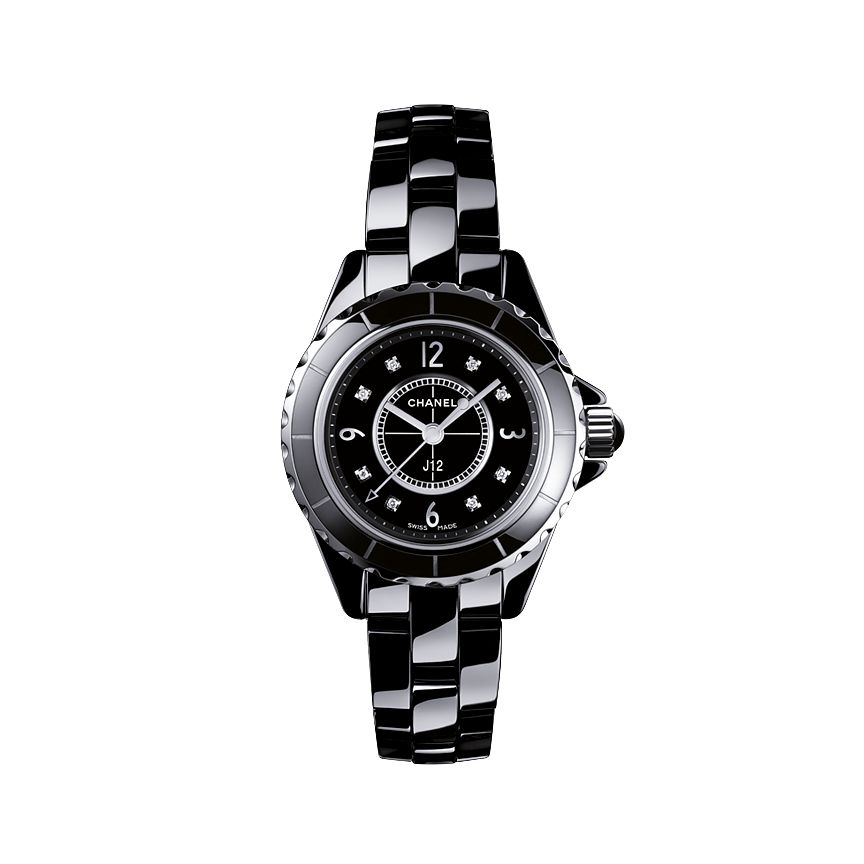 Chanel J12 Black Ceramic Watch With Diamond Indicators - Product number 9339612