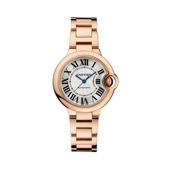 Cartier Ballon Bleu 33mm ladies' rose gold bracelet watch - Product number 9362509