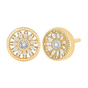 Emmy London 9ct Gold 0.12ct Diamond Earrings - Product number 9382704