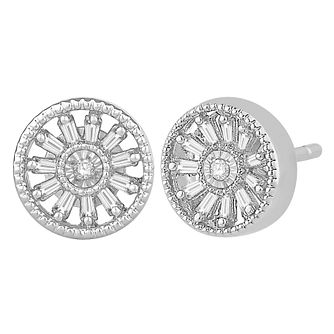 Emmy London 9ct White Gold 0.12ct Diamond Earrings - Product number 9382712