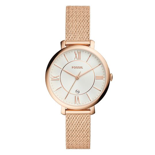 Fossil Rose Gold Plated Jacqueline Mother Of Pearl Watch - Product number 9390340