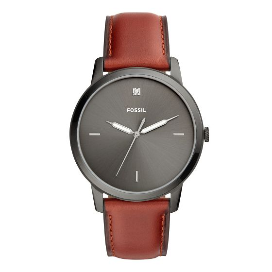Fossil Men'S Brown Leather Strap Watch - Product number 9390537
