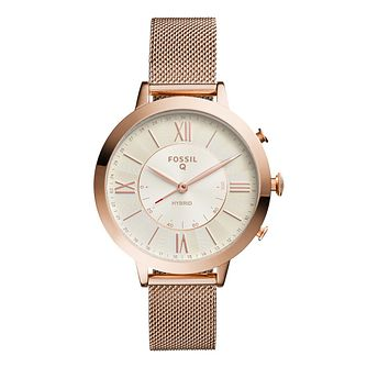 Fossil Smartwatches Jacqueline Rose Gold Tone Bracelet Watch - Product number 9390650