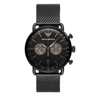 Emporio Armani Men's Black Bracelet Watch - Product number 9390812