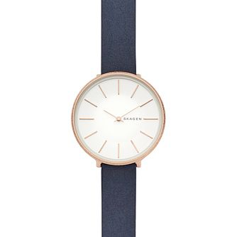 5fe103d0f6f Skagen Karolina Ladies  Rose Gold Plated Strap Watch - Product number  9391215