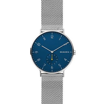 Skagen Men's Aaren Stainless Steel Blue Dial Watch - Product number 9391266