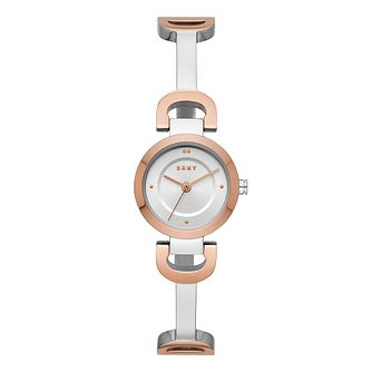 DKNY Ladies' Reade Two Tone Stainless Steel Bracelet Watch - Product number 9391339