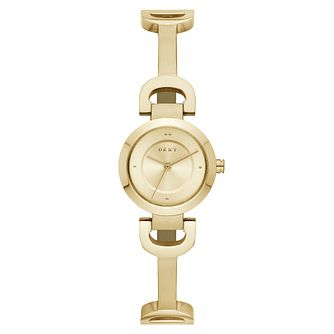 DKNY Ladies' Reade Yellow Gold Plated  Bracelet Watch - Product number 9391347