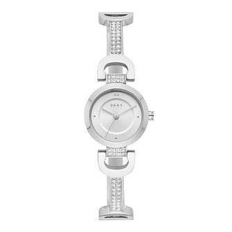 DKNY Ladies' Reade Stainless Steel Crystal Bracelet Watch - Product number 9391363