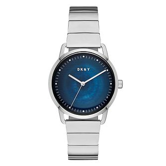 DKNY Ladies' Stainless Steel Greenpoint Blue Dial Watch - Product number 9391452