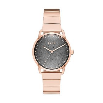 DKNY Greenpoint Ladies' Rose Gold Plated Bracelet Watch - Product number 9391479