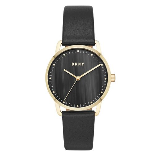 DKNY Greenpoint Ladies' Gold Plated Leather Strap Watch - Product number 9391487
