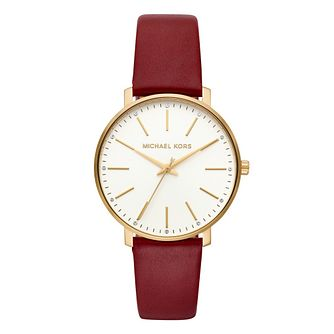 Michael Kors Pyper Ladies' Yellow Gold Plated Strap Watch - Product number 9391584