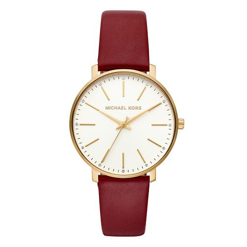 Michael Kors Pyper Ladies' Red Leather Strap Watch - Product number 9391584