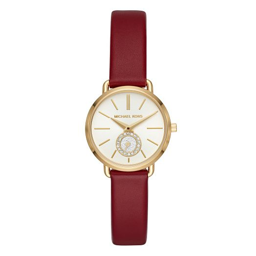 Michael Kors Portia Ladies' Yellow Gold Plated Strap Watch - Product number 9391606
