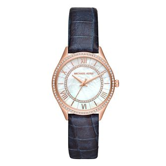 Michael Kors Lauryn Ladies' Rose Gold Plated Strap Watch - Product number 9391649