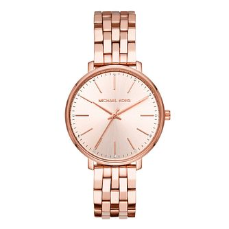 Michael Kors Pyper Ladies' Rose Gold Plated Bracelet Watch - Product number 9391673