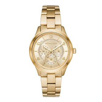 Michael Kors Yellow Gold Plated Runway Bracelet Watch - Product number 9391886