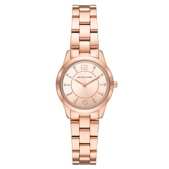 Michael Kors Ladies' Rose Gold Plated Runway Watch - Product number 9391932