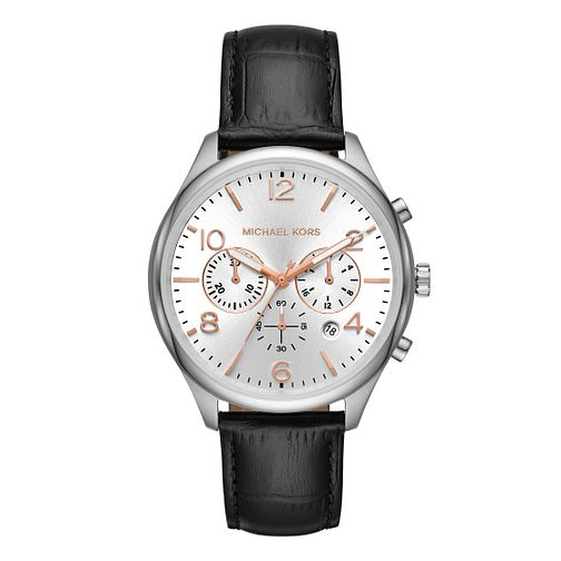 Michael Kors Merrick Men's Silver Strap Watch - Product number 9392904
