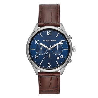 Michael Kors Merrick Men's Stainless Steel Strap Watch - Product number 9392912