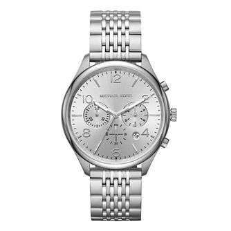 Michael Kors Merrick Men's Silver Bracelet Watch - Product number 9392963