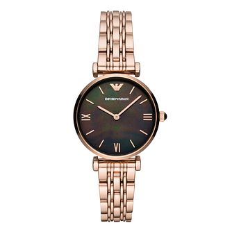 Emporio Armani Ladies' Rose Gold Plated Gianni Watch - Product number 9393137