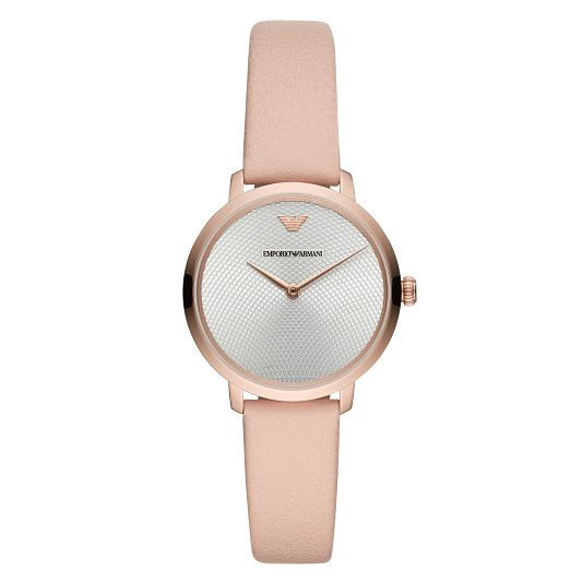 Emporio Armani Slim Ladies' Rose Gold Plated Strap Watch - Product number 9393196