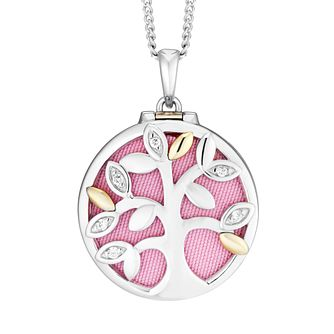 9ct Yellow Gold and Silver Tree Of Life Design Locket - Product number 9393315