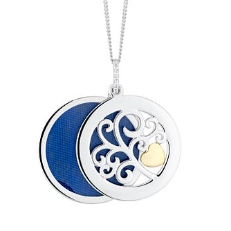 9ct Yellow Gold & Silver Tree Of Life Design Sliding Locket - Product number 9393463
