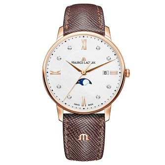 Maurice Lacroix Eliros Ladies' Brown Leather Strap Watch - Product number 9393919