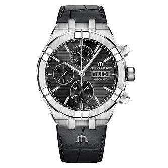 Maurice Lacroix Aikon Men's Black Leather Strap Watch - Product number 9394486