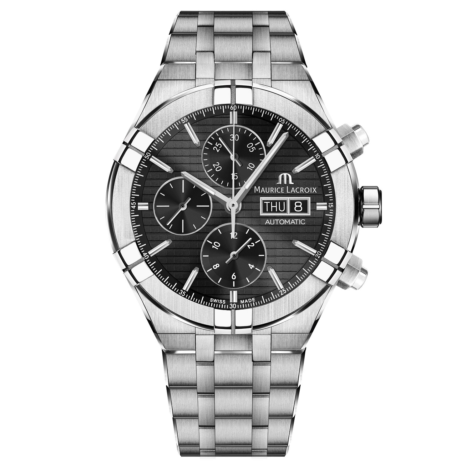 Maurice Lacroix Aikon Men's Black Chronograph Watch - Product number 9394516