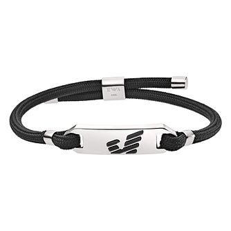 Emporio Armani Men's Graphic Black Bracelet - Product number 9398023
