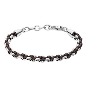 Fossil Vintage Men'S Leather Black Bracelet - Product number 9399127