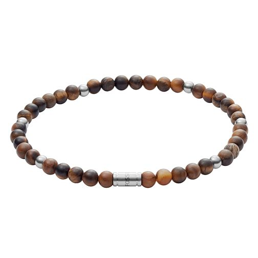 Fossil Vintage Men's Brown Beaded Bracelet - Product number 9399232