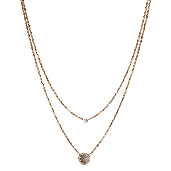 Fossil Classic Ladies' Rose Gold Plated Necklace - Product number 9399313