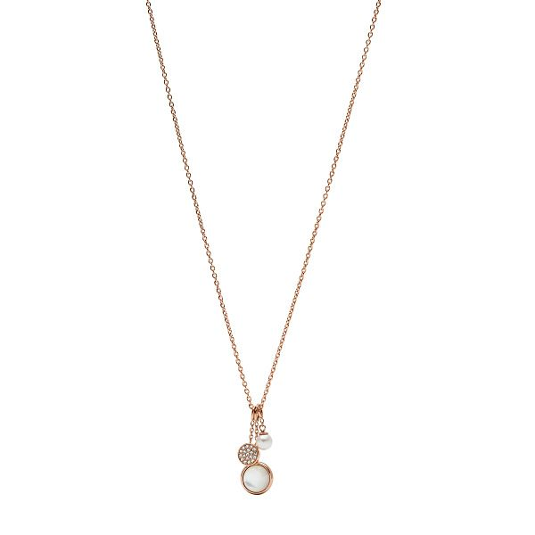 Fossil Classic Ladies' Rose Gold Plated Drop Necklace - Product number 9399364