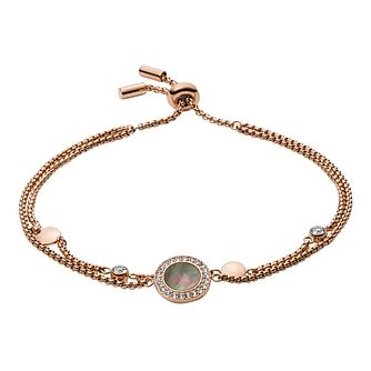 6474b1f86 Fossil Classic Rose Gold Plated Bracelet - Product number 9399380