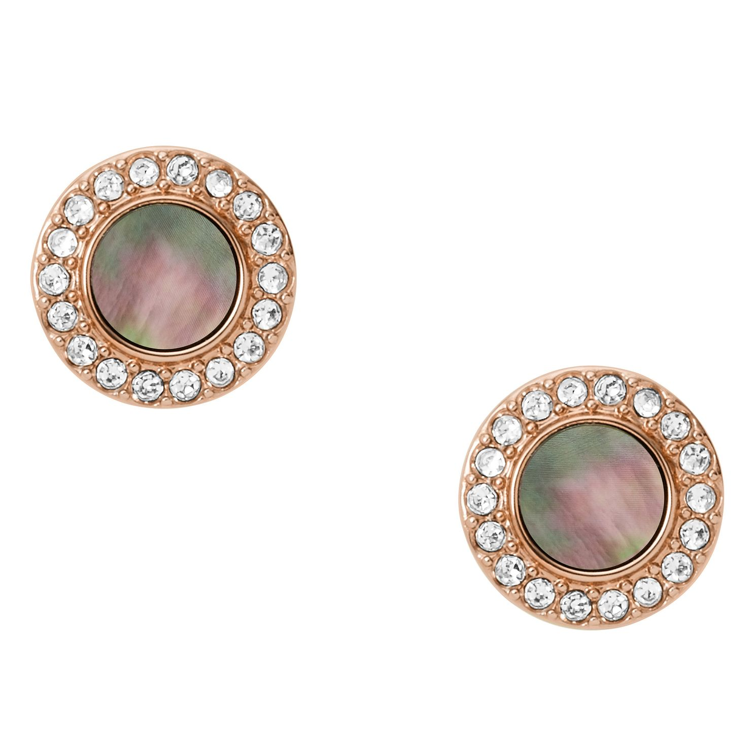 Fossil Classic Ladies' Rose Gold Plated Studs - Product number 9399437