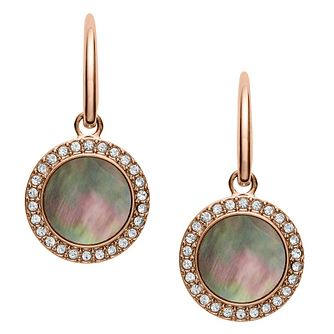 Fossil Classic Ladies' Rose Gold Plated Earrings - Product number 9399445